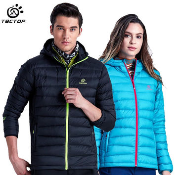 2017 Men Women's Winter White Duck Down Jacket Outdoor Sport Thermal Tectop Coat Hiking Camping Skiing Male Female Jackets VA049