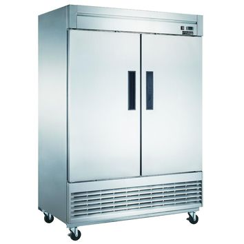 Commercial Kitchen 2 Door Reach-In Freezer 55""
