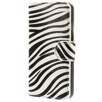 IPHONE 6 / 6S WALLET LEATHER CASE - ZEBRA