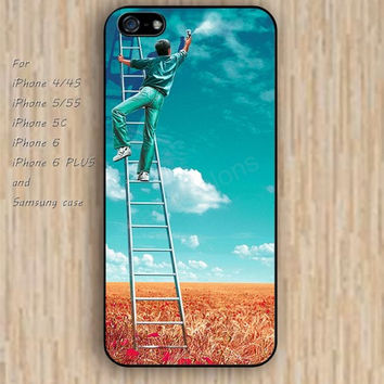 iPhone 6 case colorful Manual spray blue sky iphone case,ipod case,samsung galaxy case available plastic rubber case waterproof B110
