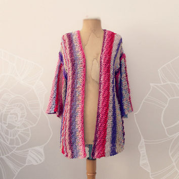 Hand Knitted Long Cardigan- No.6