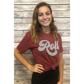 Roll Tide Alabama Top- Red