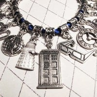 Time Traveler's DELUXE Bracelet, inspired by Doctor Who and the TARDIS