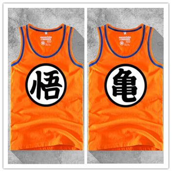 Anime Dragon Ball Son Goku Vest Men Tank Tops Sleeveless Cotton T-shirt