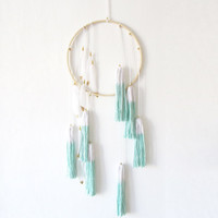 Dream Catcher Tassel Wall Hanging / Baby Feather Mobile, Perfect for a Boho Nursery