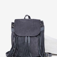 Don't Hang Up Suede Tassel Backpack