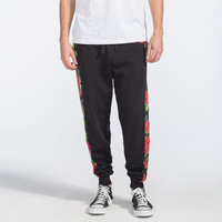 Asphalt Yacht Club Floral Camo Mens Jogger Pants Black  In Sizes