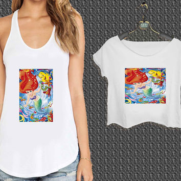 Disney ariel the little mermaid For Woman Tank Top , Man Tank Top / Crop Shirt, Sexy Shirt,Cropped Shirt,Crop Tshirt Women,Crop Shirt Women S, M, L, XL, 2XL*NP*