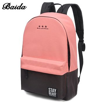 Women Fashion Backpack Schoolbag Laptop Travel Bags