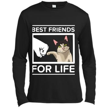 Funny Cat - Best Friends For Life Cute  Cats Gifts Long Sleeve Moisture Absorbing Shirt