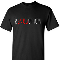 Love Revolution Black Short Sleeve T Shirt