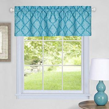 Ben&Jonah Collection Colby Window Curtain Valance - 58x14 - Turquoise