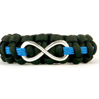 Infinity Loop Paracord Bracelet for Correctional Officers