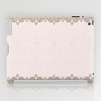 Damask Lace Pattern iPad Case by Nika In Wonderland