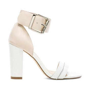 SOLES X NUDE Let It Ride Heel in White