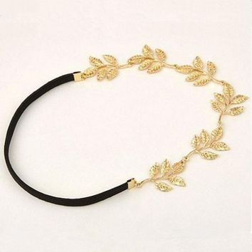 Hot Sales Europe romantic Olive leaf Headband Hairpin jewelry! crystal shop hair jewelr   --CRYSTAL SHOP Free shipping