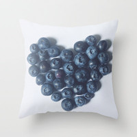 Blueberry Love Throw Pillow by Beth - Paper Angels Photography