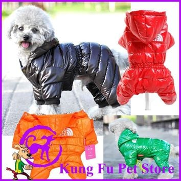2017 New Thickening Of Dog Down Jacket Large Size Winter Dog Clothes Pet Coat  Products For Animals Free Shipping P036