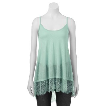 Freshman Lace Hem Tank Top - Juniors, Size: