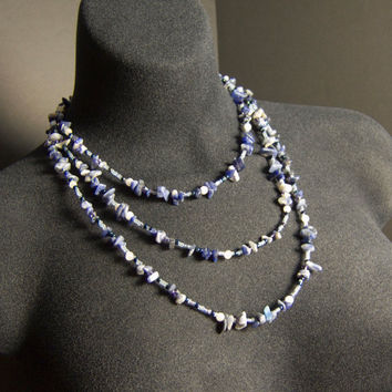 Blue Necklace Sodolite Gemstone Necklace Gemstone by AnandaBijoux