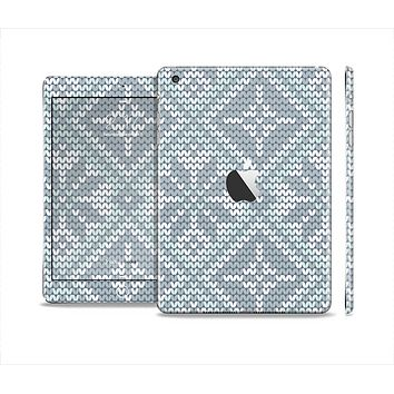 The Knitted Snowflake Fabric Pattern Skin Set for the Apple iPad Mini 4