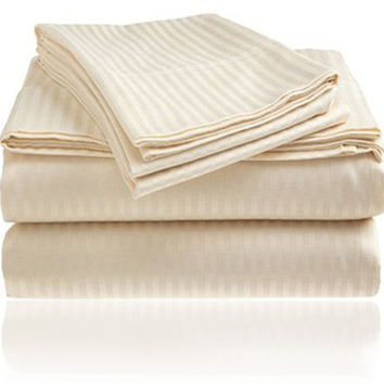 ComfortLiving Color 4-Piece Sheet Set Queen - Ivory