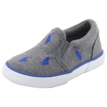 Polo Ralph Lauren Toddler Boy's Bal Harbour Repeat Grey Sneakers Shoes