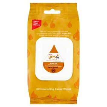 Yes To Miracle Oil Brighten & Condition Argan Oil Nourishing Facial Wipes, 30 count - Walmart.com