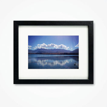 Photography Print Framed New Zealand Lake Tekapo Mountains Scenery Landscape Photograph Picture Wall Art