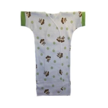 Baby Boys' Playful Monkey Short Sleeve Gown