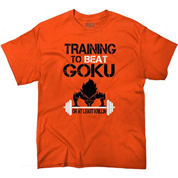 Training Insaiyan Gym To Beat Goku or Killing Dragon Ball Z T-Shirt