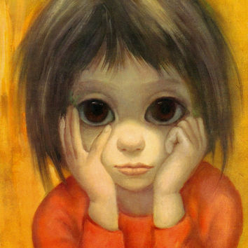 Big Eyes | Vintage Print Photo | 1963 THE LITTLE THINKER | Margaret Keane | Walter Keane