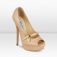 Jimmy Choo Printed Mock Croc Platform shoes - $225.00