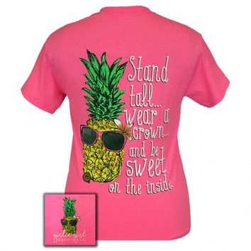 Girlie Girl Southern Originals Preppy Pineapple Stand Tall T-Shirt