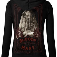 "Women's ""Bloody Mary"" Zip Up Hoodie by Se7en Deadly (Black)"