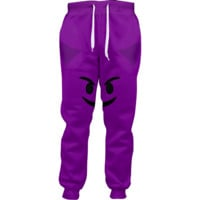 Emoji Purple Devil Joggers