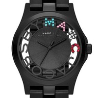 Women's MARC BY MARC JACOBS 'Henry Skeleton Glitz' Bracelet Watch, 40mm