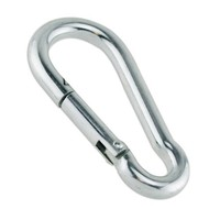 "Zinc-Galvanized Steel Carabiner Spring Snap Link Hook - Choose from 6 Sizes 40mm to 140mm - 1-1/2"" to 5-1/2"""" 