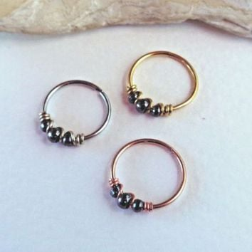 Seamless,Endless Septum Ring Tragus Piercing Jewelry,Helix,Cartilage,Scaffold