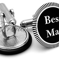 Design #3 Bestman Wedding Cufflinks