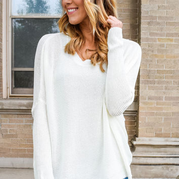 Coffee Shop Sweater Ivory