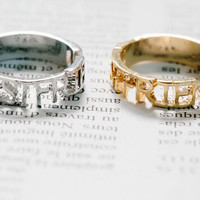 Bestfriend spelling ring,best friend ring,best friends rings,infinity rings,letter jewelry,eternity rings,jewelry rings,graduation,RN2701