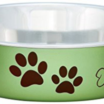 Bella Bowls Dog Bowl, Metallic