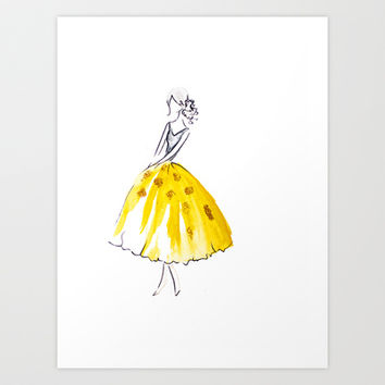 Dior Girl Art Print by Tiffany Mitchell