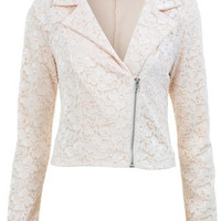 Lace Biker Jacket - View All  - New In