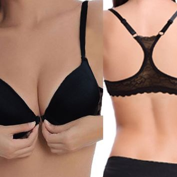 Ladies Secret Sexy Women Bra Thin Padded Lace Bralette Underwear Plus Size 32 34 36 38 40 42 44 A B C D DD Cup Big Gift For Girl