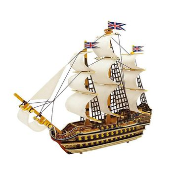 Robotime Home Decor Figurine DIY Wooden Miniature Ship Model Kits Boat Decoration Wood Crafts Accessories Gifts for Children BA