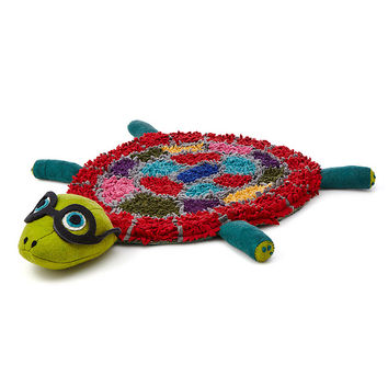 Nelson the Turtle Rug | handmade childrens rug