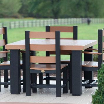 LuxCraft Recycled Plastic Square Contemporary Table