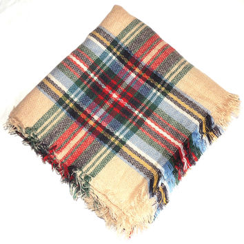 Free Tartan Plaid Blanket Scarf with purchase of $100 or more!